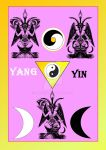 Yin Yan Levi Baphomet and the golden Harmony by Mikewildt
