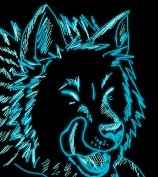 Glowy Wolf Icon by coffeelover1411