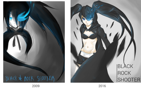 Black Rock Shooter Redrawn by Ariarin