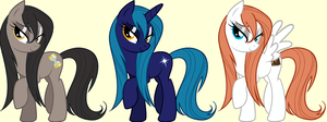 Wet Mane Raggy, North, and Sunfire by Alkonium