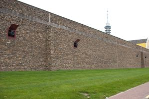 Fortified wall with canons 1 by steppelandstock