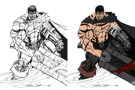 Berserk Gatts or Guts by Wolf-Signs