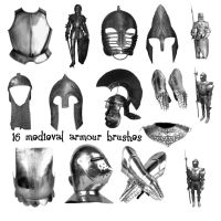 16 Medieval Armour PS Brushes by Spyderwitch