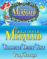 The Little Mermaid Font Ver.2 (Update) by kustren