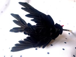 Swallow kanzashi by elblack