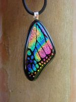 Bright Rainbow Wing by FusedElegance