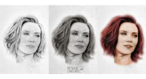 Scarlett Johansson stages by Steve-Nice