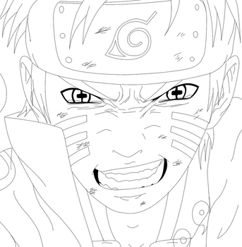 Naruto 687 ( lineart ) - yeaah by KhalilXPirates