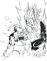 Vegeta vs Kid Buu by Onore-Otaku