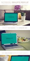 Laptop - Realistic Mock up by DOMDESIGN