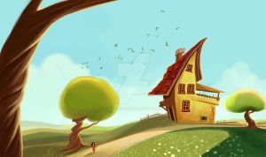 imaginary house painting by eydii