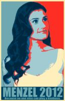 Idina Menzel for Pres. 2012 by blinkrock421
