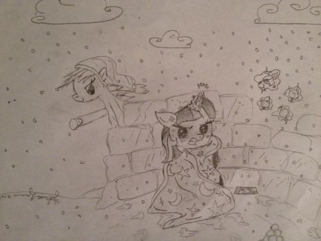 Pelted with Snowballs by Ms-Summerfingers