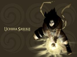 Wallpaper Sasuke by Hidden-Ninja-Village