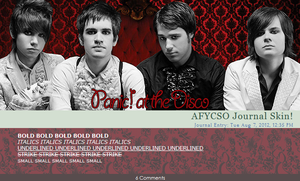 AFYCSO Panic at the Disco Journal Skin. by coolkidelise