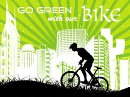 Go Green With Our Bike by netkids
