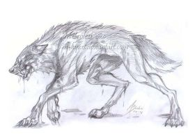 four-legged werewolf by m-lupus