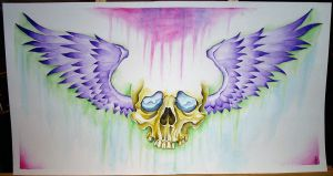 Skull and Wings by 921studios