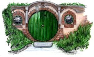 Thank You: Bag End Hobbit Door by AinuLaire