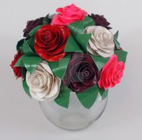 Vase of Duct Tape Roses by DuckTapeBandit