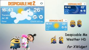 Despicable Me Weather HD for xwidget by jimking