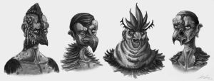 Bird King Concepts by ScottLozano