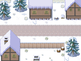 Snow Village Battleback for RPG Maker XP by TheStoryteller01