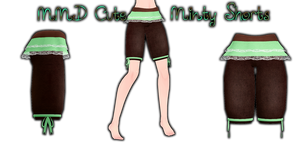 MMD Cute Minty Shorts by Tehrainbowllama