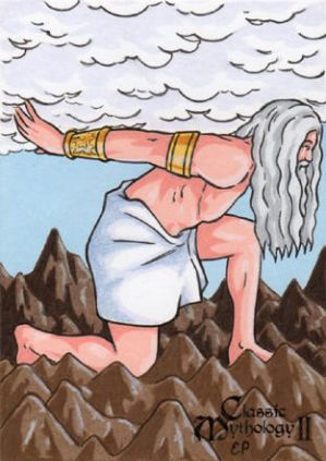 Atlas Sketch Card - Classic Mythology II