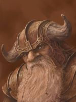 Dwarf Portrait by JohnDotegowski