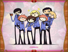 Ouran Highschool Host Club by AuraHACK