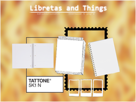 + Libretas and things (png's) by natieditions00