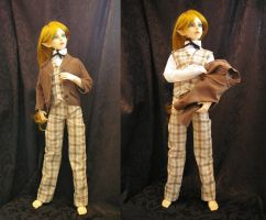 Doll Outfit : 4 piece suit by Cheesedemon88