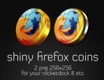 Shiny Firefox Coins by drgirlfriend