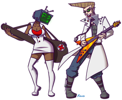 Rocker Doctor and Nurse Teevee by FicusArt