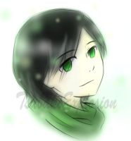 Little Juushiro With a Green Scarf by TsubakiExplosion