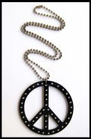 Acrylic Peace Sign Necklace by cherryboop