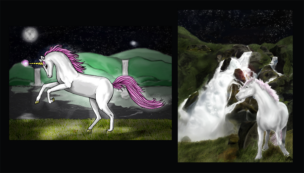 Unicorn night by aldana07