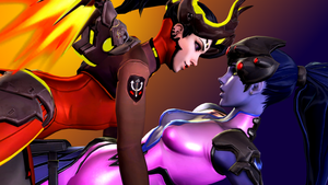 Overwatch (10 b - Mercy and Widowmaker) by AdeptusInfinitus