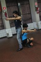Billy Coen and Jill Valentine-shoot by SenninUzumaki