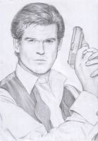 Brosnan's James Bond by dashinvaine