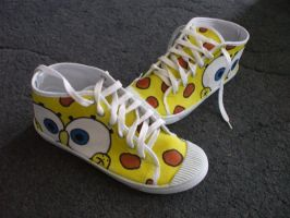 Spongebob shoes part 2 by AppolloChan