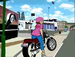 meg griffin at ace cafe london by artful-bodger