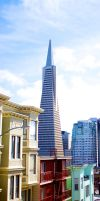 Transamerica Pyramid - Sprouting from the Rooftops by MaxHedrm0