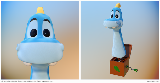 Dino 3D Cartoony Characters by pixelbudah