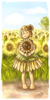 Sunflower by evka8D