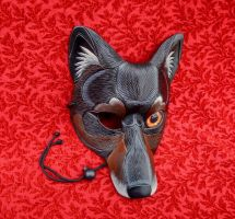 'Real Eye' Wolf Mask #1 by merimask
