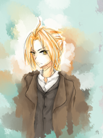 Edward Elric Fan Art by umepai