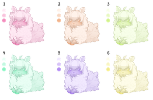 Cotton Sheep adoption 2- open by to-much-a-thing