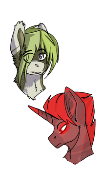 Some of my pony OC's | 1# | The normal and demon by Noioo